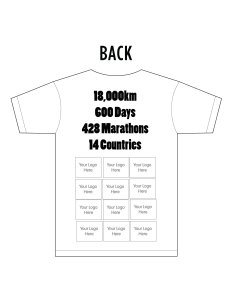 Your logo back T-shirt