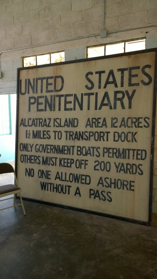 The US penitentiary sign