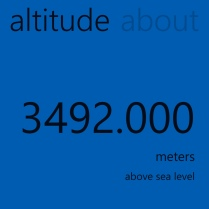 Nearly the highest altitude I have been