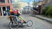 My Thule stroller in Quito